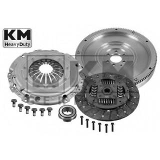 Маховик одномасовый+ комплект сцепления (4 части)  HEAVYDUTY KM Germany (228mm) VW T5 1,9TDI, Golf 5 1,9TDi (BKC), Passat 1,9TDi 05- (BKC), Caddy