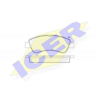 Комплект тормозных колодок, дисковый тормоз  ICER