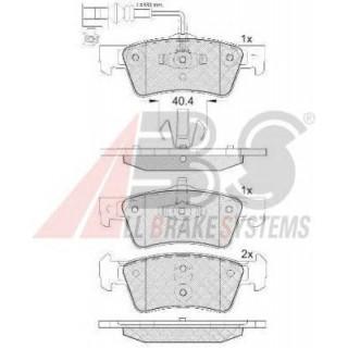 Колодки тормозные задние система ATE. 333*32.5mm (пр-во ABS) VW T5 03-