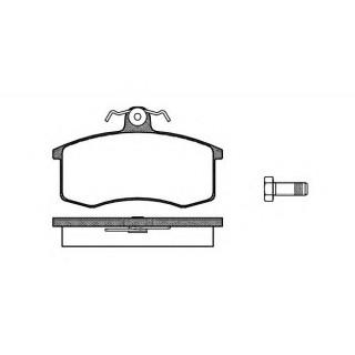 Колодка передненго тормоза ВАЗ 2108-2170 DELPHI