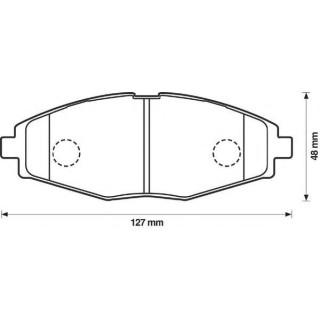 Комплект тормозных колодок, дисковый тормоз   Bendix