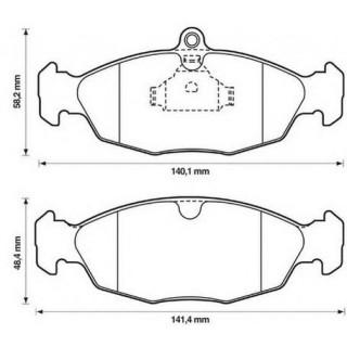 Колодки тормозные передние (пр-во BENDIX) Daewoo Lanos, Neixa, Opel Vectra A
