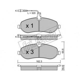 Колодки тормозные передние с датчиком  (пр-во BSG) FIAT Scudo/PEUGEOT Expert 07-