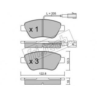 Комплект тормозных колодок, дисковый тормоз SAMKO FIAT DOBLO