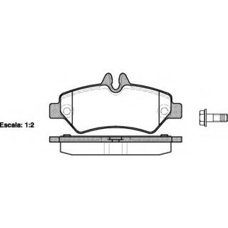 Комплект тормозных колодок, дисковый тормоз  ROADHOUSE