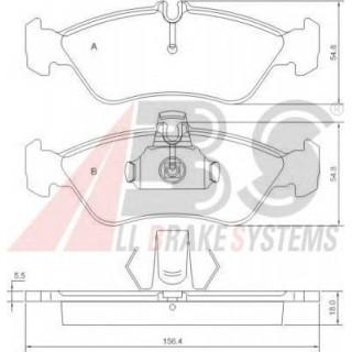 Комплект тормозных колодок, дисковый тормоз  A.B.S.