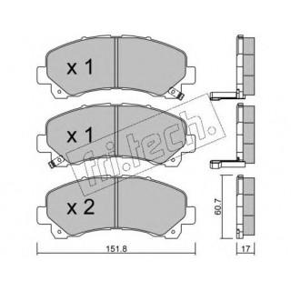 Комплект тормозных колодок, дисковый тормоз  AST