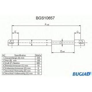 Газовая пружина, капот POLCAR (51238174866) BMV