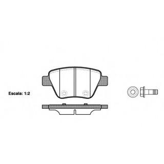 Комплект тормозных колодок, дисковый тормоз  REMSA