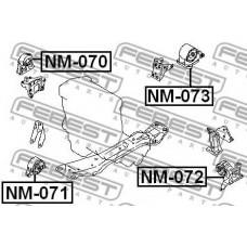 Опора двигателя передн. FEBEST 112708H310 NISSAN X-TRAIL